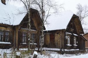 Гостиница на Вокзальной зимой
