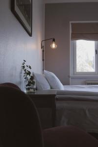 En sittgrupp på Hotell Villa Borgen