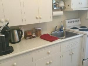 A kitchen or kitchenette at Burley's Executive Garden Suite
