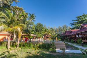 A garden outside Lanta Pearl Beach Resort