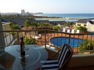 A view of the pool at The Hill Apartments Currumbin Beach or nearby