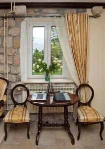 A seating area at Villa Gorica a luxury villa in Dubrovnik