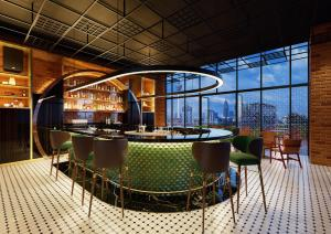 The lounge or bar area at Four Points by Sheraton Kuala Lumpur, Chinatown