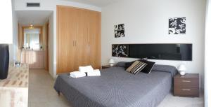 Een bed of bedden in een kamer bij Ibersol Spa Aqquaria