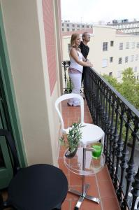 A balcony or terrace at Apart-Suites Hostemplo
