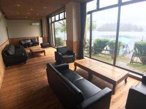 A seating area at Nojiri Lake Resort