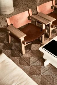 A seating area at Cretan Malia Park a Member of Design Hotels