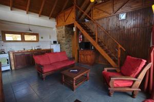 A seating area at La Patagonia Secreta