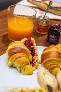 Opciones de desayuno disponibles en Dare Lisbon House