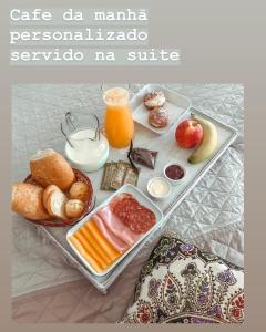 Opções de café da manhã disponíveis para hóspedes em Pousada Ubatuba Flats