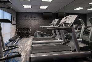 The fitness center and/or fitness facilities at Fairfield Inn & Suites Redding