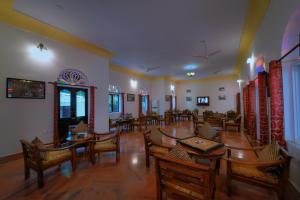 The lobby or reception area at Ranthambhore Heritage Haveli