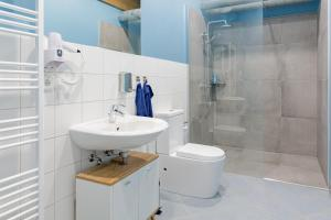 A bathroom at Argenta Hostel & Apartments