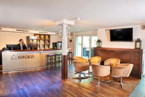 Apart-Hotel Zurich Airport tesisinde lobi veya resepsiyon alanı