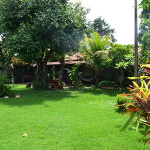 A garden outside Casa de Temporada em Bonito-MS