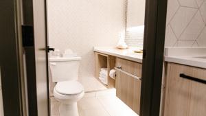A bathroom at Mountaineer Lodge