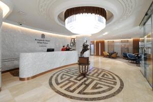 The lobby or reception area at Kempinski Hotel Khan Palace