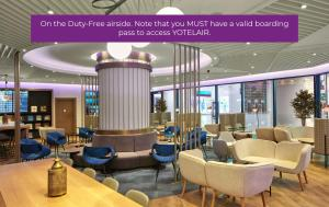 The lounge or bar area at YOTELAIR Istanbul Airport, Duty free - International Transit area
