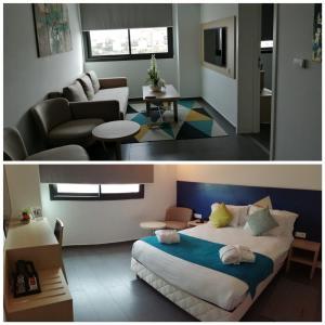 منطقة جلوس في Relax Hotel Casa Voyageurs