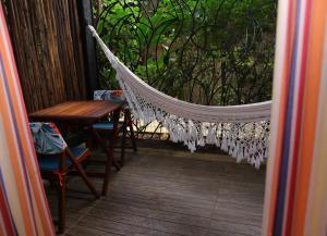 A balcony or terrace at Pousada Ogum Marinho
