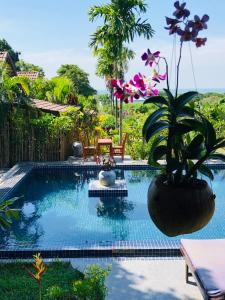 The swimming pool at or near Atmaland Resort