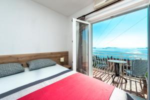 Vuode tai vuoteita majoituspaikassa Villa Adriatic Rooms