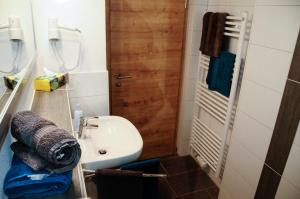 Ein Badezimmer in der Unterkunft Allgäuer Appartements