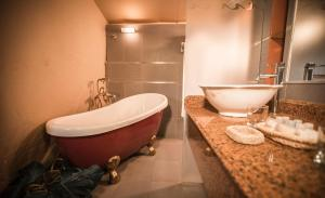 A bathroom at Vichayito Bungalows & Carpas