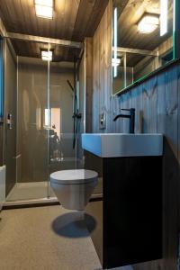 Salle de bains dans l'établissement Seljalandsfoss Horizons