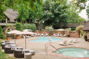 The swimming pool at or near Harvest Inn