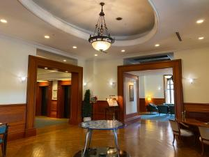 The lobby or reception area at Hotel Clubby Sapporo