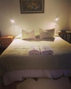 La Casona del Rio tesisinde bir odada yatak veya yataklar