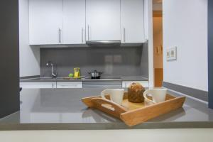 A kitchen or kitchenette at Gaudi Flats