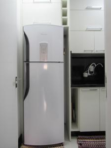 A cozinha ou cozinha compacta de Apartamento Coral - 1 quadra do Mar