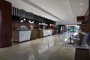 The lobby or reception area at Budapest Marriott Hotel