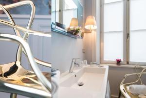 Salle de bains dans l'établissement Hôtel La Monnaie Art & Spa