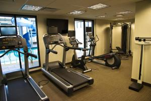 The fitness center and/or fitness facilities at Holiday Inn Hotel & Suites Red Deer, an IHG Hotel