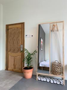 Phòng tắm tại Chí Hiếu Homestay
