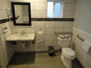 A bathroom at The Islander Motel