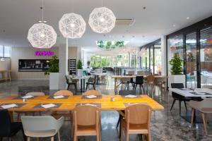 Een restaurant of ander eetgelegenheid bij Abora Catarina by Lopesan Hotels