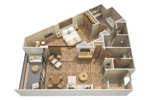 The floor plan of Mauna Lani, Auberge Resorts Collection