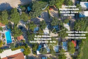 A bird's-eye view of Boutique Mobile Homes UlikaRovinj