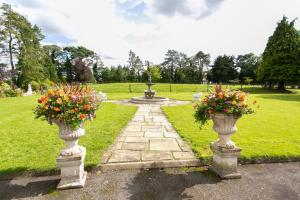 A garden outside Brookhall Cottages