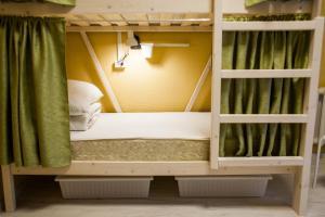 Кровать или кровати в номере Хостелы Рус- Фрунзенская