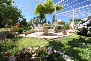 A garden outside Apartments Nikola - free parking