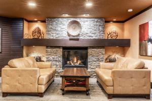 The lobby or reception area at Prestige Mountain Resort Rossland