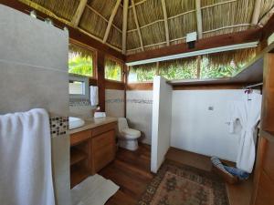 A bathroom at Hotel Boutique Siete Lunas
