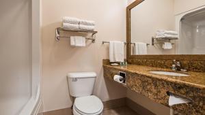 A bathroom at Best Western Brookfield