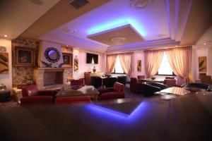 Χώρος καθιστικού στο Afkos Grammos Boutique Hotel Resort