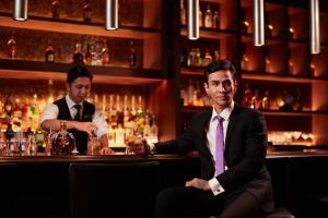The lounge or bar area at Fairmont Jakarta